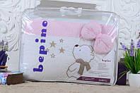 Детское постельное белье Bepino Звездочет, Нежно-розовый в точечку+держатель