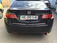 Хром накладка нижней кромки багажника  Honda Accord CL-8 2008-2012 (ABS пластик)