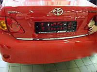 Хром накладка нижней кромки багажника Toyota Corolla 2007-2012 (нержавеющая сталь)