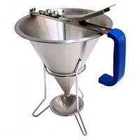 Лейка-дозатор для теста, соусов и кремов 1,5 л. с подставкой Hendi