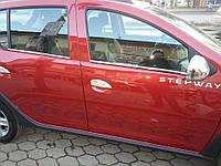 Накладки на ручки Renault Logan 2013- /  Sandero 2012- (нержавеющая сталь)