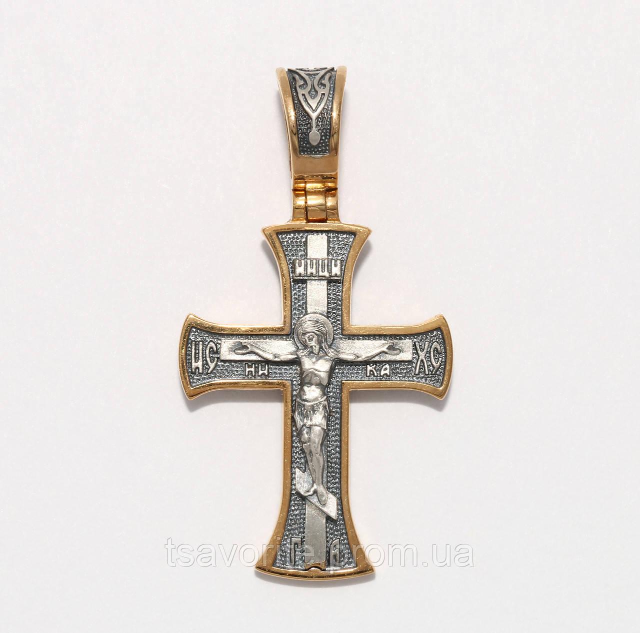 Серебряный крестик ВКХ-105
