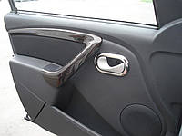 Окантовка внутренних ручек дверей Renault Duster / Logan / Sandero 4 шт. (нержавеющая сталь)