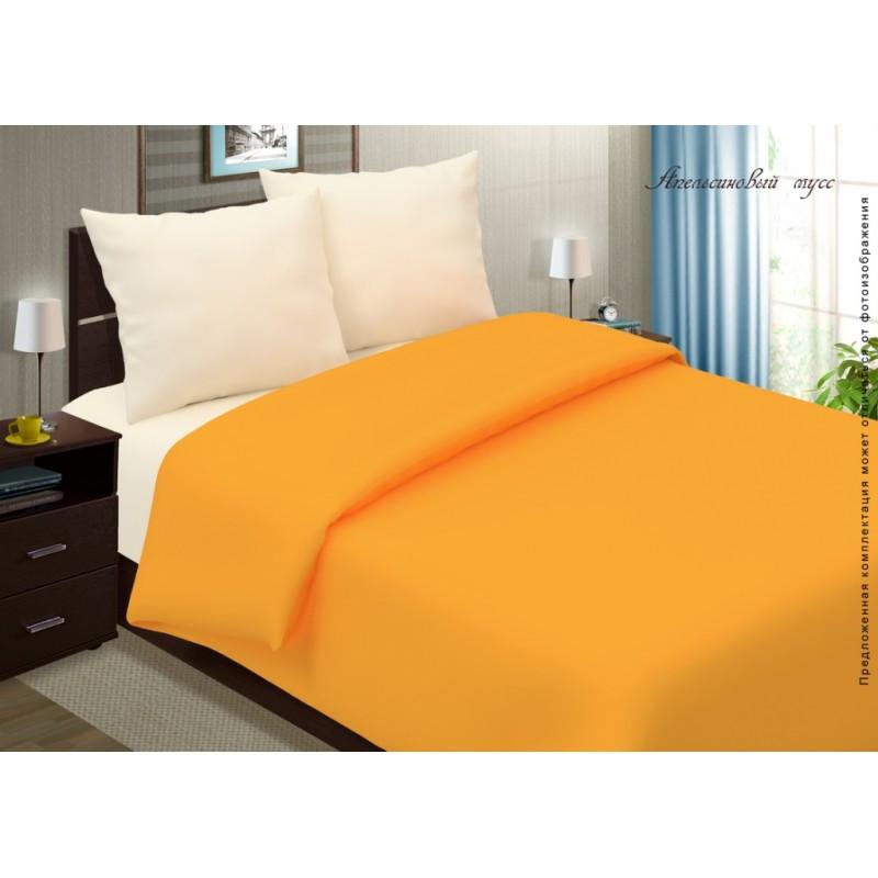 Постельное белье Апельсиновый мусс поплин ТМ Царский дом  (Евро)