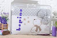 Детское постельное белье Bepino Звездочет, Серый в точечку+держатель