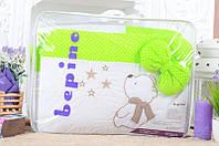 Детское постельное белье Bepino Звездочет, Салат в точечку+держатель