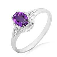 Серебряное кольцо с аметистом 0,70 карат
