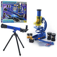 Микроскоп  2 в 1 и подзорная труба с аксессуарами