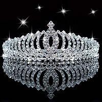 Диадема женская Императрица украшена кристаллами