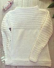 Вязаный свитер из ниточек Газзал Беби Коттон