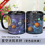 Кружка-чашка хамелеон с терморисунком Планеты, фото 2