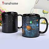 Кружка-чашка хамелеон с терморисунком Планеты, фото 3