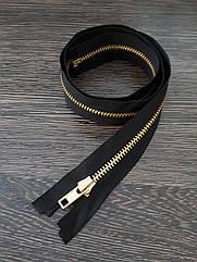 Молния одежная металлическая №5 80см черная