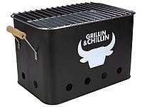 Гриль-барбекю угольный Grillin&Chillin 40x22x21,5 см