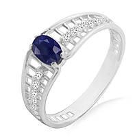 Серебряное кольцо с сапфиром 0,60 карат