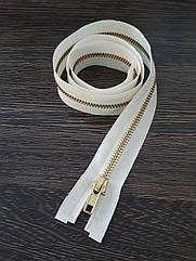 Молния одежная металлическая №5 80см белая