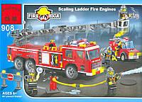 Конструктор BRICK 908 Пожарная тревога, 607 дет, в кор-ке, 48-32-6,5см