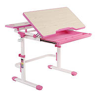 Растущая парта для школьника для дома FunDesk Lavoro L Pink