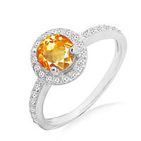 Серебряное кольцо с цитрином 0,80 карат