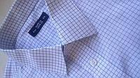 Mужская рубашка Marks & Spencer  в клетку 16,5 Ворот 42 котон