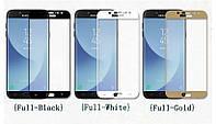 Защитное стекло с рамкой для Samsung Galaxy J7 2017 J730