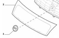 Решетка радиатора (накладка) Fiat Scudo 2007- не оригинал