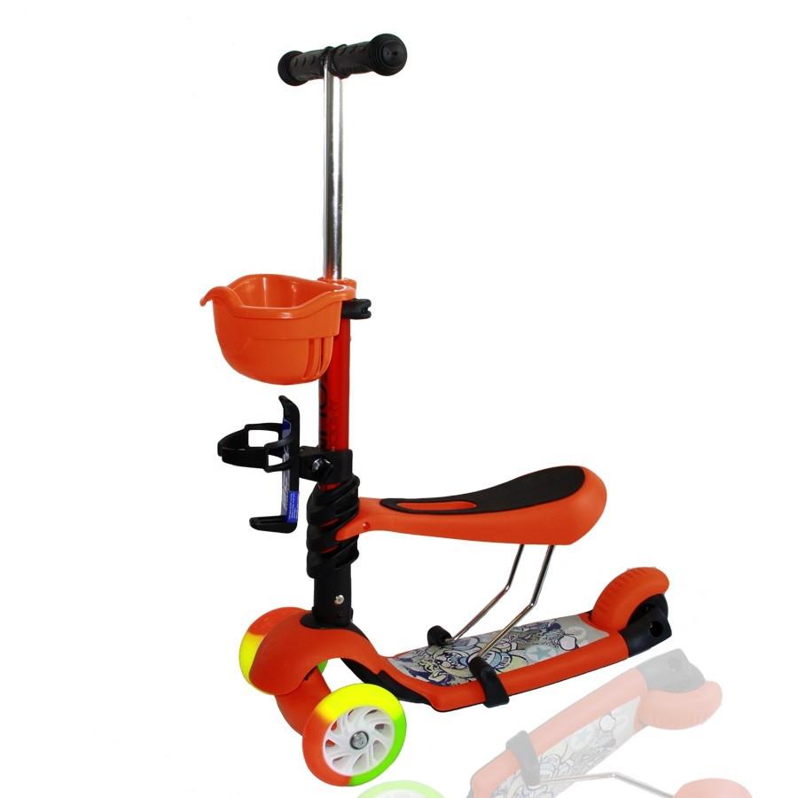 Дитячий самокат триколісний Ecoline Amigo Sport Compound