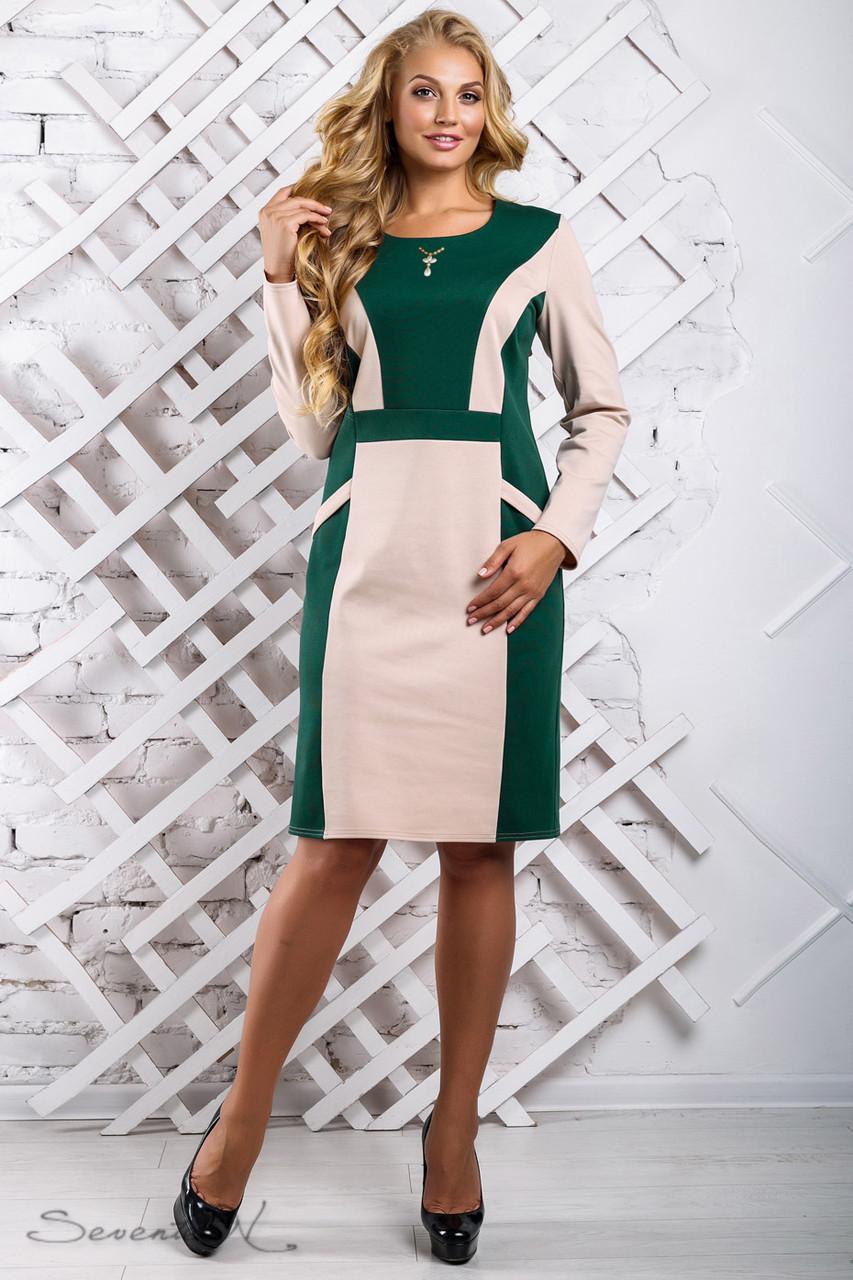 Красивое  женское платье 2323 зеленый (52-58)