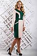 Красивое  женское платье 2323 зеленый (52-58), фото 3