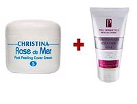 Набор Cover Cream Rose De Mer Post Peeling + Гель для умыванмя