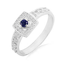 Серебряное кольцо с сапфиром 0,15 карат