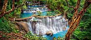 "Пазлы касторленд на 600 элементов. ""Водопад в лесу"".  Панорамные., фото 2"