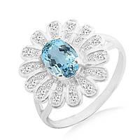 Серебряное кольцо с топазом 0,80 карат