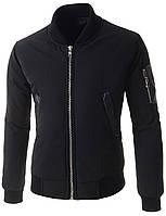 Мужской Бомбер (куртка) с декорированный элементами с кожи S,M,L, фото 1