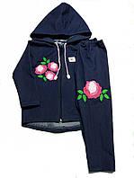Детский костюм парка и леггинсы для девочки Розочка 2-9лет.