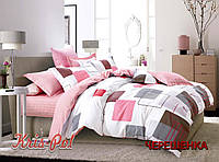 Семейный набор хлопкового постельного белья из Ранфорса №18173 KRISPOL™