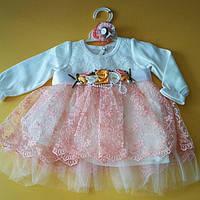 Нарядное платье  и болеро для девочки 68-74