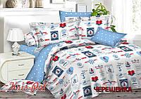 Семейный набор хлопкового постельного белья из Ранфорса №18175 KRISPOL™