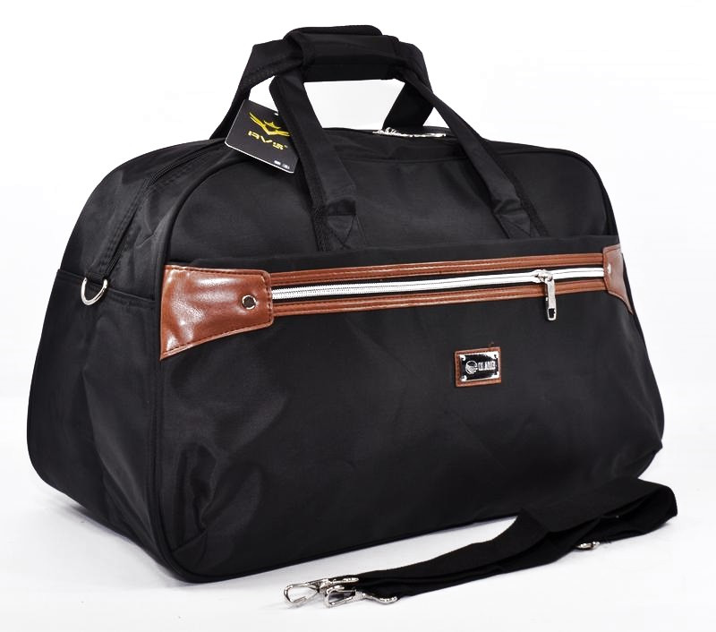 Сумка дорожная спортивная текстильная черная RVS 8073