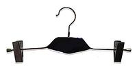 Плечики вешалка с деревянной черной вставкой и прищепками