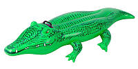 Детский надувной плотик Крокодил Intex 168х86 см (58546)