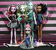 """Сет Monster High Dance Class 5-Pack (Рошель Гойл, Лагуна Блю, Гиллингтон """"Гил"""" Веббер, Робекка Стим, Оперетта)"""