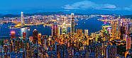 """Пазлы касторленд на 600 элементов. """"Сумерки в Гонг-Конге"""".  Панорамные., фото 2"""