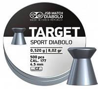 Пульки JSB DIABOLO Target Sport 4.5мм (0,52гр) 500шт., фото 1