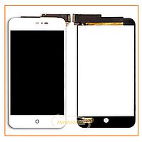 Дисплей Meizu MX2 с сенсором (тачскрином) White Original