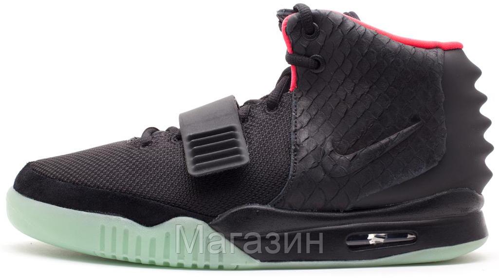 8a57a757 Женские высокие кроссовки Nike Air Yeezy 2 Black Найк Аир Изи 2 черные -  Магазин обуви