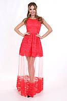 Enigma P 0819 Платье вечернее с кружевом шантильи и вставкой из сетки