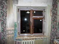Пластиковые окна под дерево, монтаж в Киеве бул.Перова 23