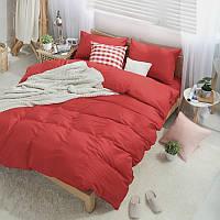 Комплект постельного белья Solid Red (поплин, 100% хлопок)
