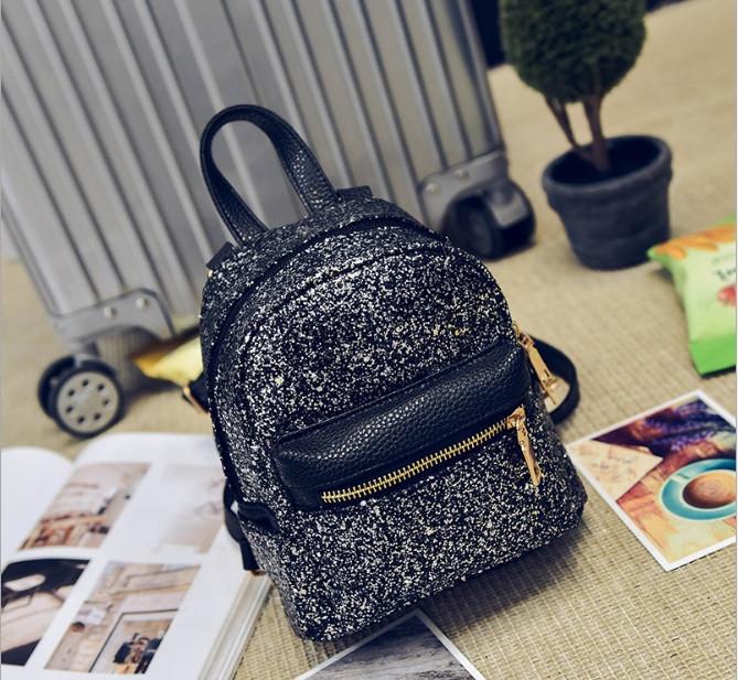 Мини рюкзак женский городской черный